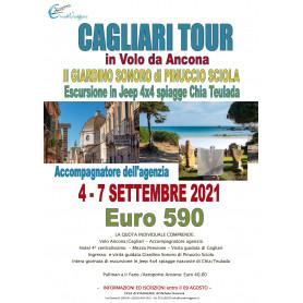 CAGLIARI TOUR DA ANCONA 04 - 07 SETTEMBRE 2021 PICCOLO GRUPPO CON ACCOMPAGNATORE Euro 590,00